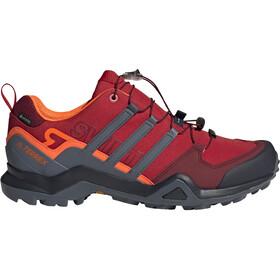 adidas TERREX Swift R2 Gore-Tex Hiking Shoes Waterproof Men, scarlet
